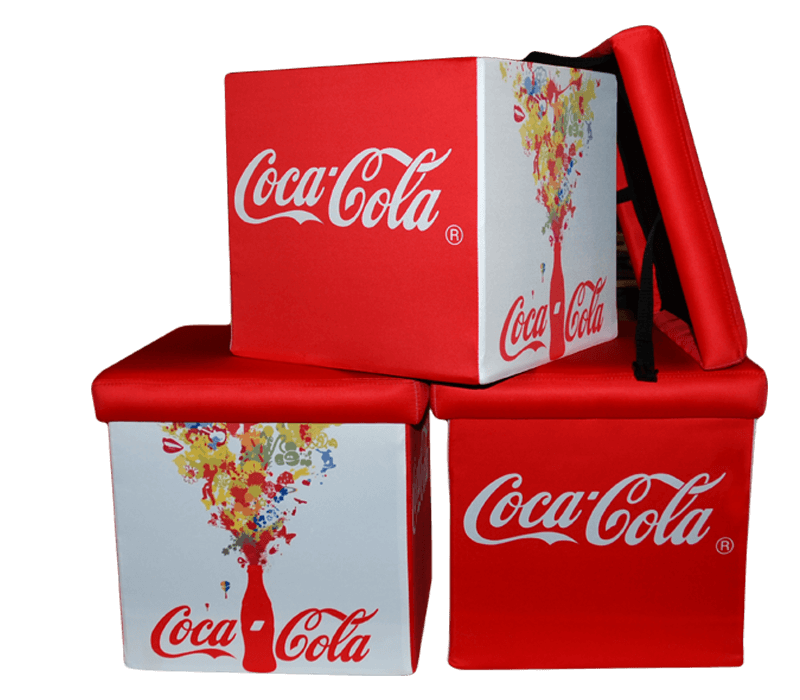 kostki reklamowe Yoga Cube, kostki z nadrukiem, siedziska reklamowe, kostka reklamowa, kostka z nadrukiem, pufa kostka, pufy kostki,